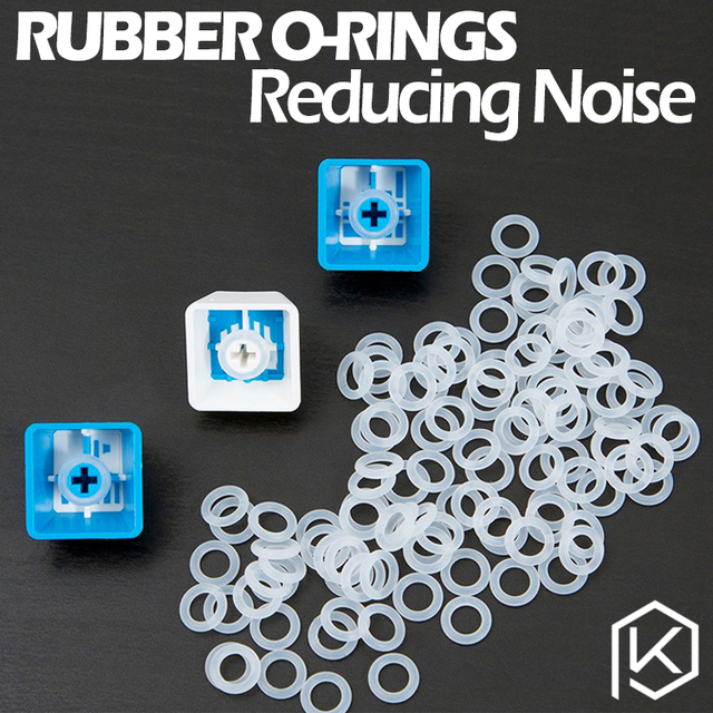 Cherry MX Rubber O Rings 120Pcs Switch Dampeners Dark Black Clear ...