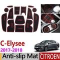 Противоскользящий резиновый коврик для ворот для Citroen C-Elysee 2017 2018 C Elysee CElysee аксессуары для лица автомобильные наклейки 14 шт.