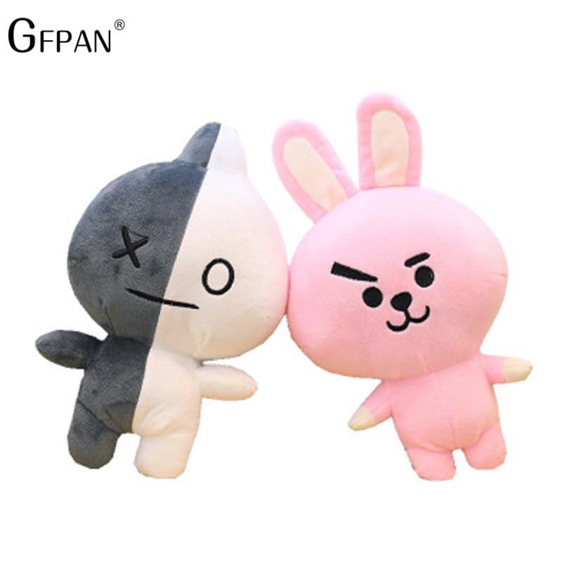 1 pcs 25/45cm Bangtan Boys BTS bt21 Lovely Pillow Cute Plush Toy TataVan Cooky Chimmy Shooky ...