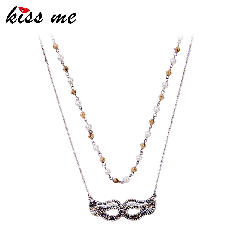 KISS ME Brand Crystal Wings Pendant Necklace Fashion Jewelry New Design Long Sweater Necklace