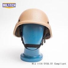 Militech CB Coyote Brown PASGT NIJ IIIA 3A Full Cut Ballistic Bulletproof Kevlar Bullet Proof Helmet With Lab Testing Videos
