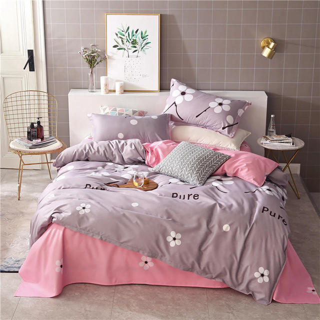 Clearance Home Textile 4 Seasons Universal Bed Linens 3/4pcs/Set Bedding  Sets Bed