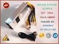 YUNHUI BTC LTC DASH miner блок питания 1800 Вт PSU для ANTMINER S9i S9 L3 + D3 A3 E3 Z9 T9 + L3 + Baikal X10 Innosilicon A9 A10 D9