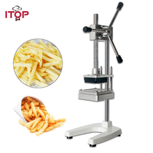 цены French Fry Potato Chip Cut Cutter Vegetable Fruit Slicer Manual Kitchen Equipment Commercial Machine