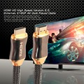 Flexible Zinc Alloy HDMI HD Super High Speed Version 2.0 Nylon Braid Ethernet HDTV 2160p 4K Gold Plated Cable 1.5M/2M/3M/5M