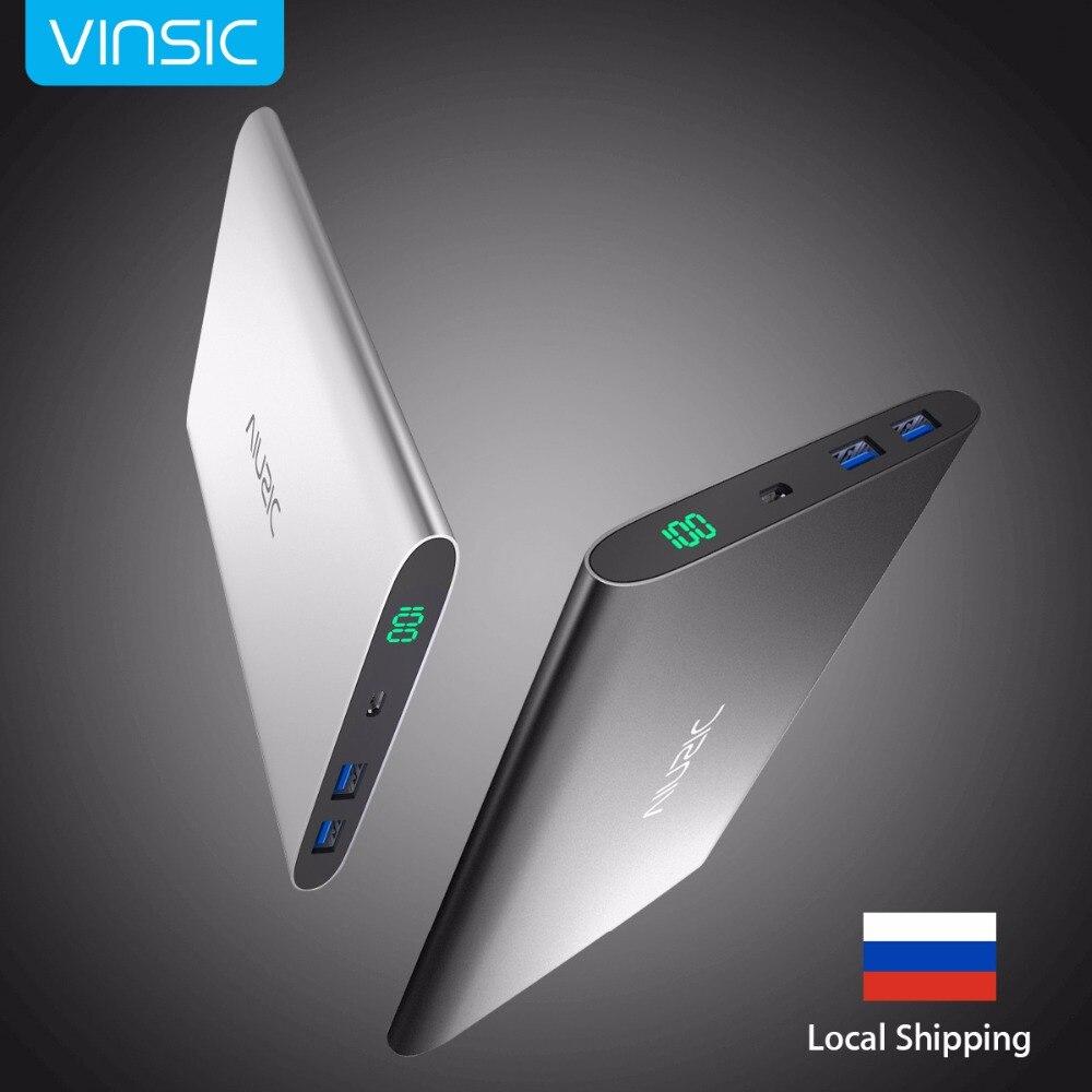imágenes para Vinsic 15000 mAh Power Bank Batería Externa Portable de Reserva Del Cargador de Batería Dual USB LLEVÓ la Exhibición para el iphone Samsung HTC Xiaomi