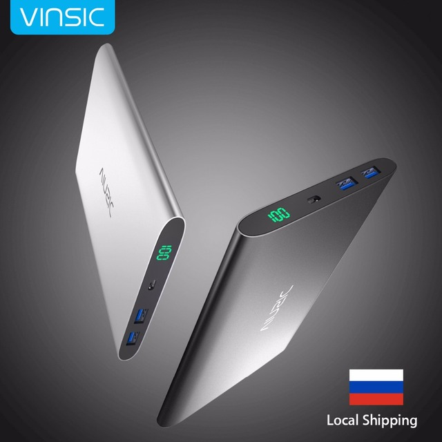 Vinsic 15000mAh Power Bank Portable External Battery Charger Backup Battery Dual USB for iPhone X 8 8 Plus Xiaomi Samsung HTC