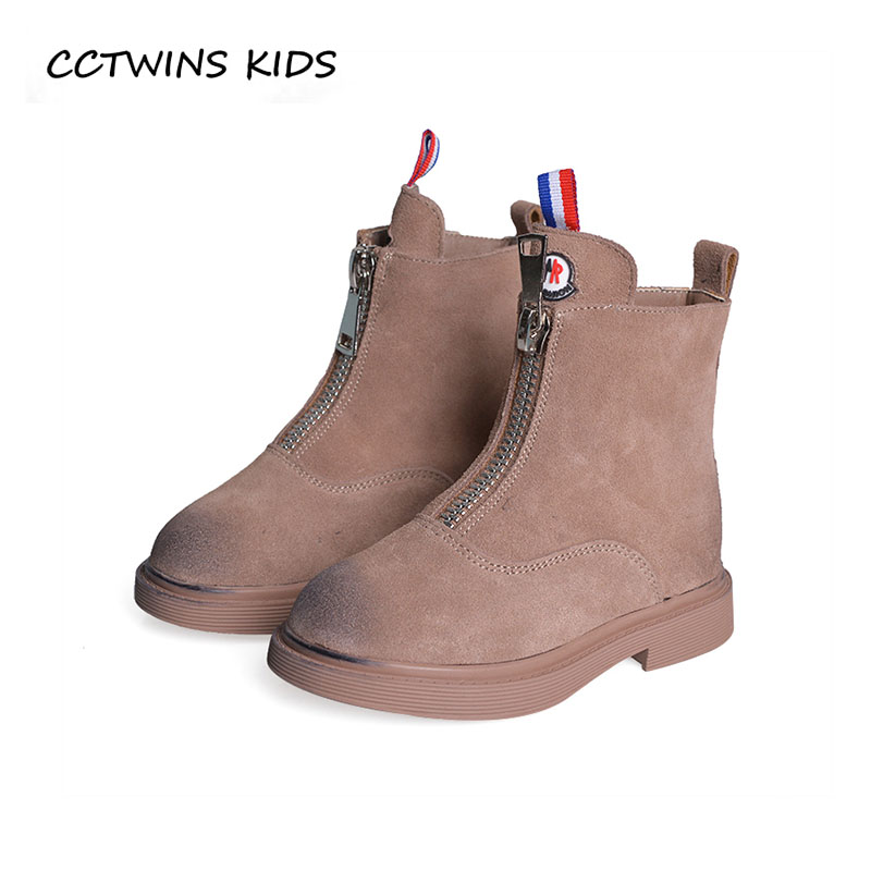CCTWINS KIDS 2018 Winter Baby Boy Black Ankle Boot Children Fashion Warm Boot Girl Genuine Leather Shoe Toddler CF1524