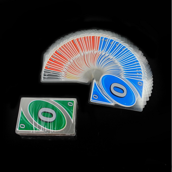 HOT plastic transparent waterproof playing cards water proof board game family fun poker game russian rules