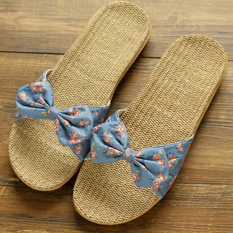 32486213dcd3 2019 Women Slippers Spring Summer Home Shoes Women Casual Bow-knot Flip  Flops Soft Breathable Slides Beach Sandals Female