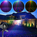 Outdoor Waterproof RGB Laser Full Stars Sky Patterns Projector Remote Holiday House Tree Wall Garden Landscape Effect Light T59