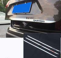 Apto Para Nissan Qashqai j11 2014-2019 Cauda Traseira Adesivo Porta de Aço Inoxidável Porta Traseira Porta Traseira Da Guarnição Do Carro Styling acessórios
