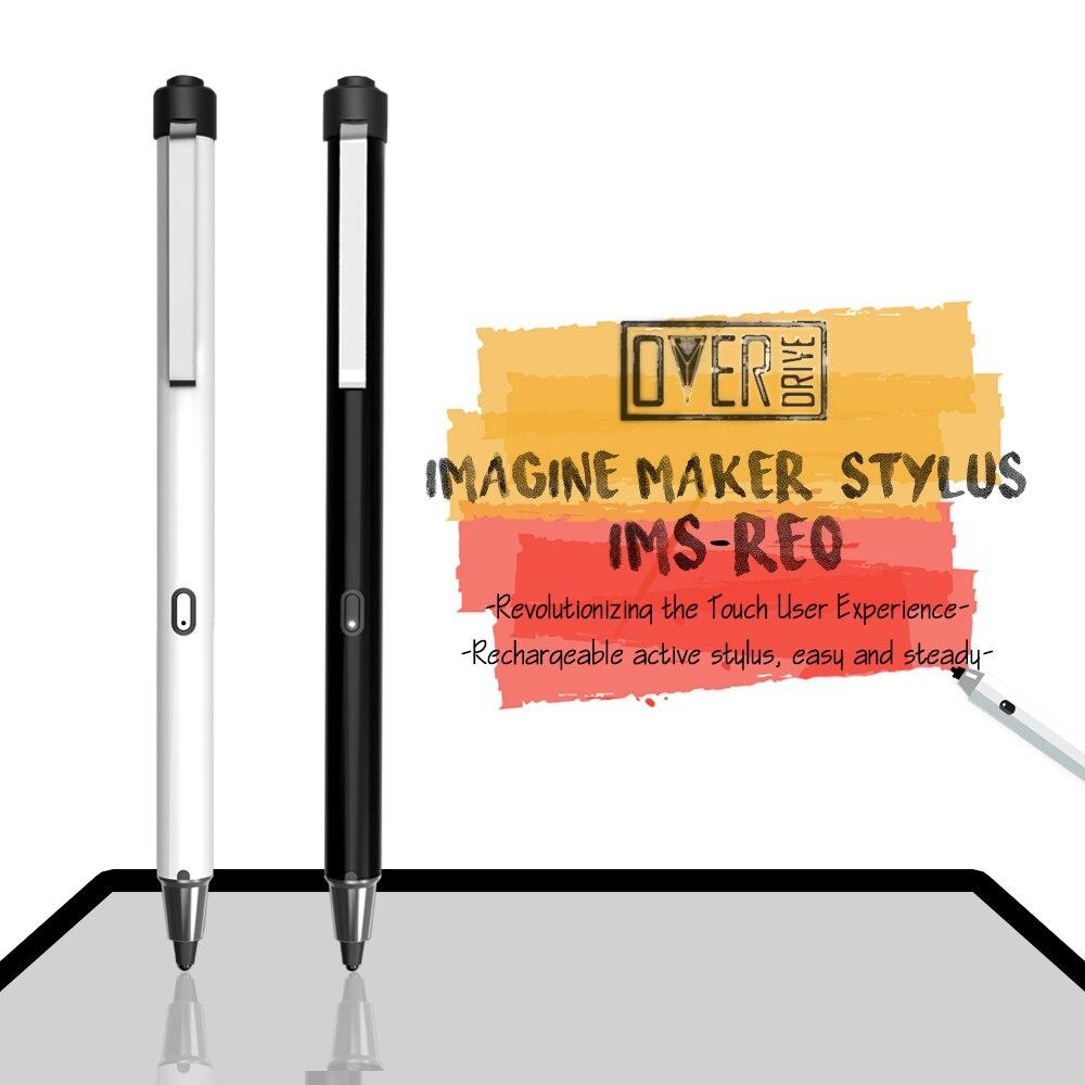 Overdrive activo recargable pantalla capacitiva lápiz óptico de metal lápiz táctil para iphone pad ipad superficie pro samsung tablet pc