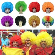 Colorful Explosive Head Wigs Afro Kinky Curly Clown Wig Caps Resistant Synthetic Hair Mapof Beauty Multicolor Short Curly Wig цена в Москве и Питере