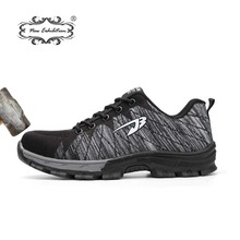 New exhibition Fashion safety shoes breathable fly line Causal sneaker anti-smashing puncture mens Work Protective sapatos