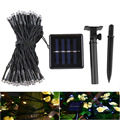 Waterproof 100 LED Outdoor  Solar Lamps LED String Lights Fairy Holiday Christmas Party Garlands Solar Garden  Lights