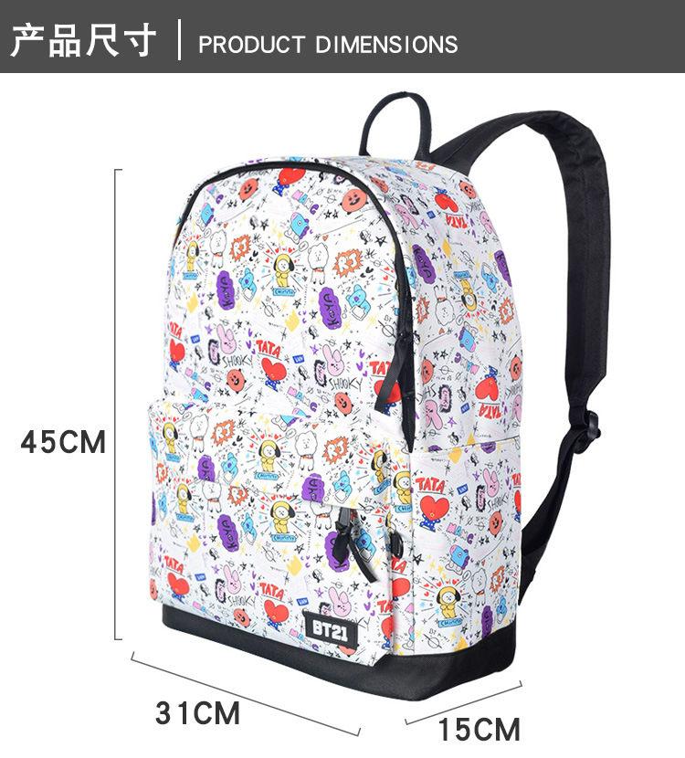 2018 New Seventeen Han Fan Fashion Men And Women Student Backpack And Leisure Backpack Luggage & Bags
