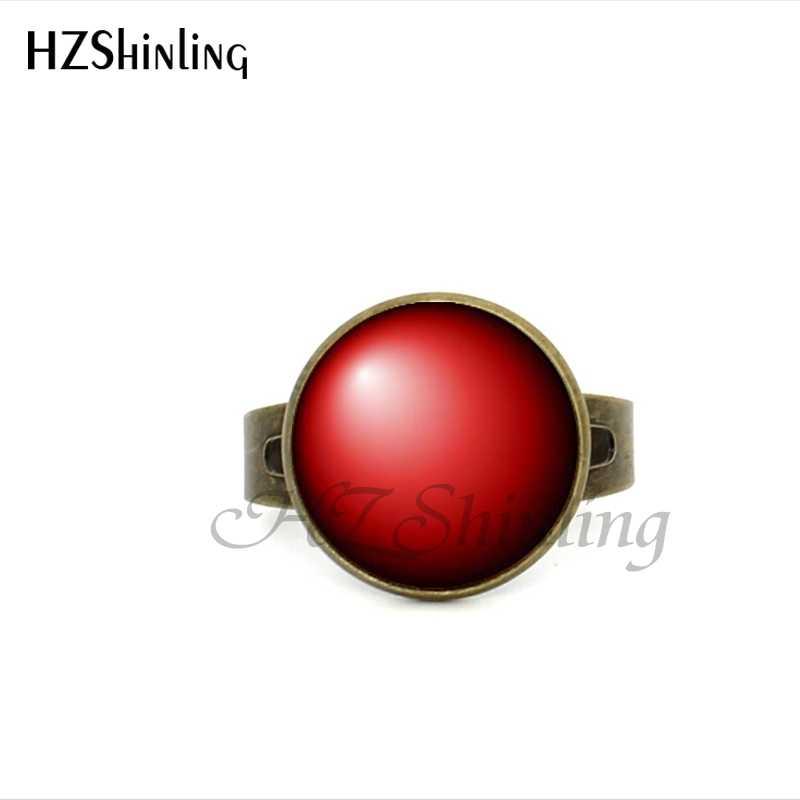 2017 Новый стиль Мятное зеленое кольцо античная латунь стекло кабошон регулируемое кольцо Радуга фото ювелирные изделия для женщин