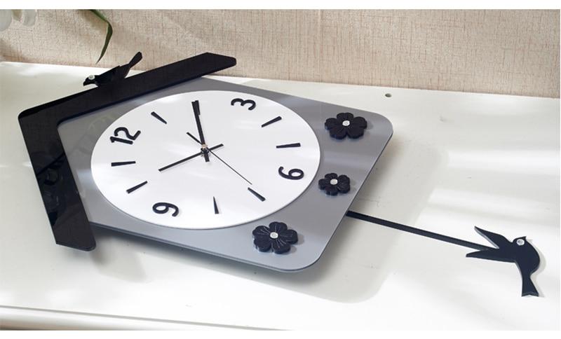 Rock n Roll Wall Clock Retro Room Clock Cloock Nordic Clock Wood Wall Clock Mickey Kitchen Big Clock Wall Mirror Wall Clock Watch (10)