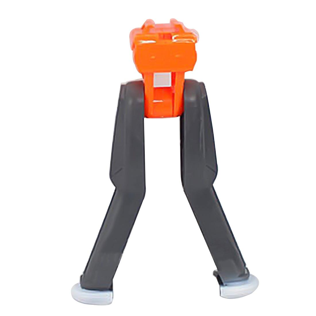 Bípode plegable de plástico modificado para Nerf Retaliator/para Nerf Rapidstrike/para Nerf Stryfe-naranja + gris Objetivo eléctrico de reinicio automático de puntaje de alta precisión DIY para Nerf gun accesorios juguetes para deportes de diversión al aire libre regalos de Año Nuevo TSLM1