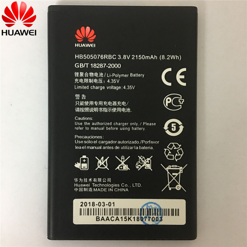 Battery Hb505076rbc 2150mah For Original Huawei A199 C8815 G606