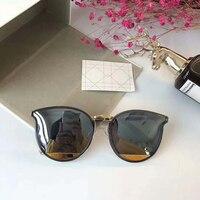 猫目ブランドデザイナーレトロサングラス女性女性金属フィルム身長品質サングラス高級レディースuv400 oculosまたはgozluk