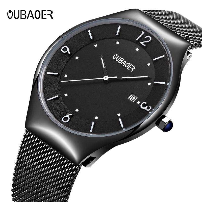 OUBAOER Original Watch Men Sport Quartz Men Watches Auto Date Wrist Watch Relogio Time Hour Clock Reloj Hombre Mens Watches цена
