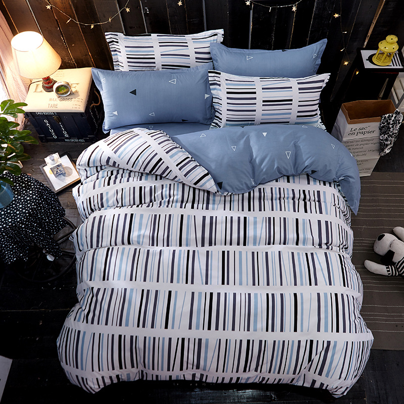 Flower Heart-shaped 2/3/4pcs Bedding Sets/bed Set/bedclothes for Kids Bed Linen Duvet Cover Bed Sheet Sets,King 13Size Stripe AB
