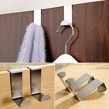 New arrival 2PCS Stainless Steel Home Kitchen Wall Door Hook Hanger Hanging Coat Hooks Holder