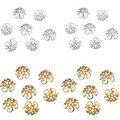 Новый 100 шт. / 200 шт./лот 2015 высокое качество DIY золото / посеребренная полые цветок металлов подвески бусины шапки для изготовления ювелирных изделий 10 м