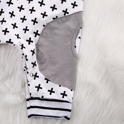 Cute-Infant-Baby-Girls-Boy-Hooded-Short-Sleeve-Striped-Romper-Cross-Jumpsuit-Playsuit-Outfits-Costume-3