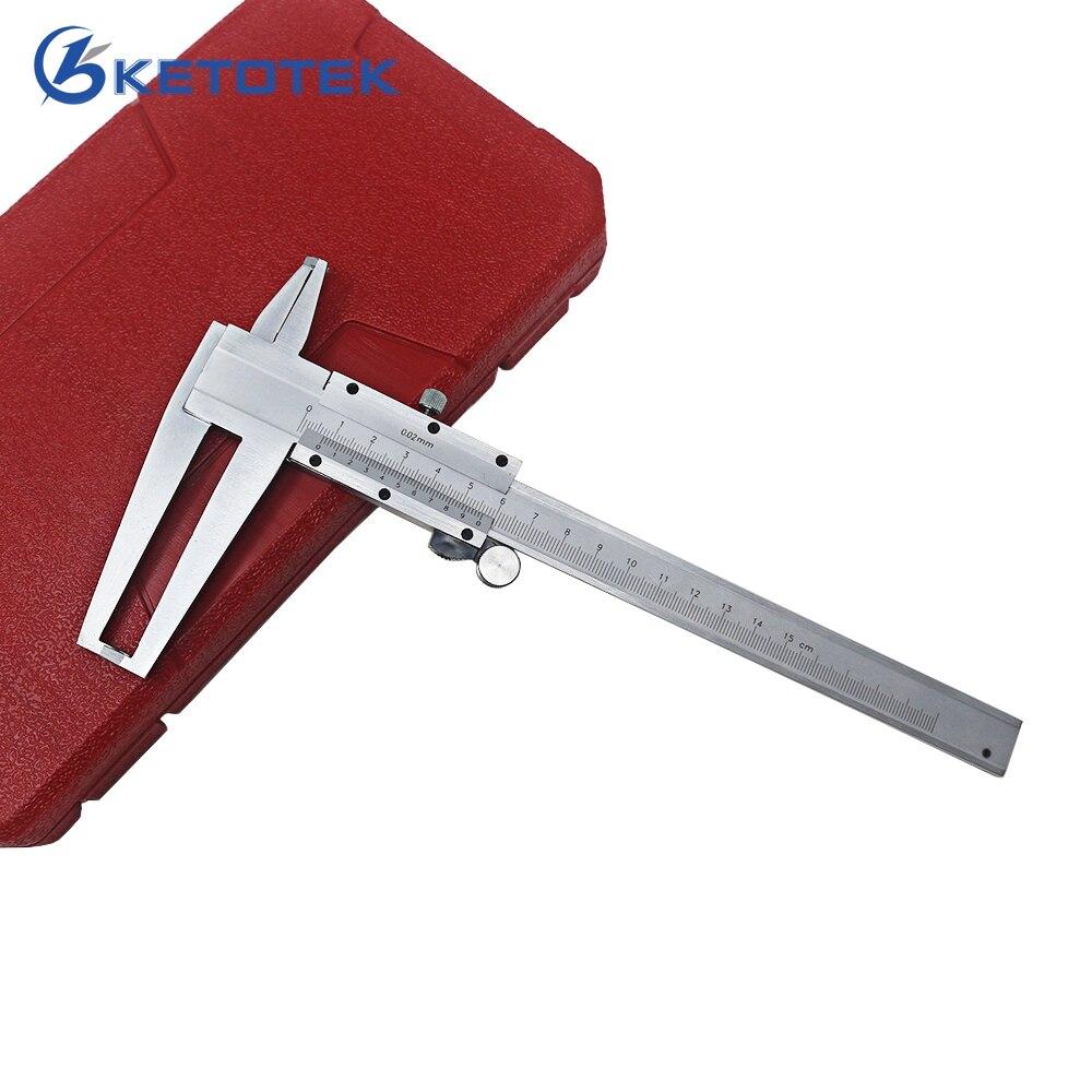 9-150mm Digitale Innen Messschieber 0,02mm Innere Nut Herrscher Che Doppel Klaue Carbon Stahl Messung Professionelle Silbrig Werkzeuge
