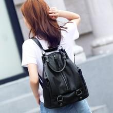 100% натуральная кожа Многофункциональный леди рюкзак дизайнерские женские рюкзаки мода Натуральная кожа рюкзак дорожная сумка
