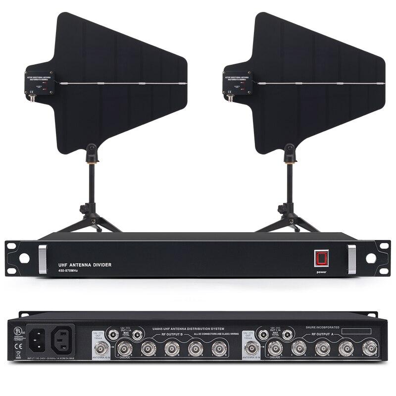 Best UA845 Attivo Antenna Splitter Collettore di 470 952 mhz UHF Wireless Antenna del Sistema di Distribuzione di Potenza Amp Wireless Microfon-in Microfoni da Elettronica di consumo su AliExpress - 11.11_Doppio 11Giorno dei single 1