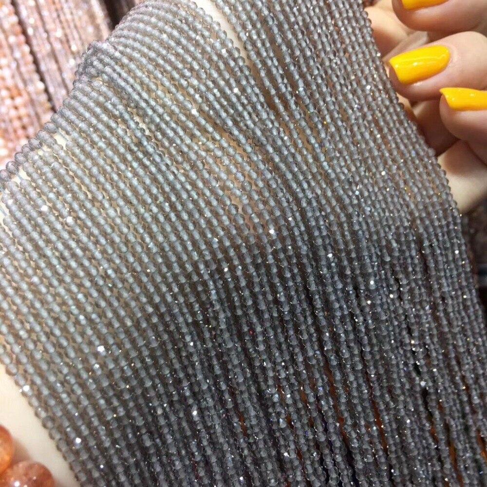 Kleine Perlen Naturstein Perlen Eis obsidian 2mm 3mm Abschnitt Lose Perlen für Schmuck Machen Halskette DIY Armband