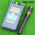 KELUSHI 2 em 1 Kit de Ferramentas de fibra óptica medidor de energia com 10 mW visual fault locator fibra óptica Cable tester ferramenta transporte rápido