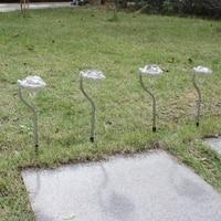 8pcs Solar Powered LED Light Outdoor Garden Yard Lawn Light Rechargeable White Led Solar Lamp Garden