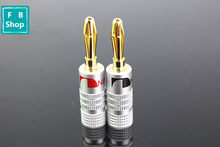 Free shipping 2pcs RICH TECH Copper BANANA PLUG Gold-plated Banana Connector with Screw Locks For Audio Jack Speaker Plugs(China)