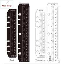 wholesale PVC ruler 25pcs for A5 A6 spiral notebook diary coil binder classification seperate planner ruler DIY A5 B5 6 holes(China)