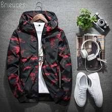 Brieuces Spring Autumn Mens Casual Camouflage Hoodie Jacket Men Waterproof Clothes Windbreaker Coat Male Outwear 4XL