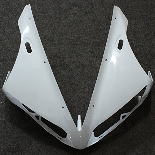 Unpainted Front Upper Nose Head Fairing For Yamaha YZF R1 YZFR1 2004 - 2006 2005 YZF-R1 04 05 06 Individual Motorcycle Fairings mfs motor motorcycle part front rear brake discs rotor for yamaha yzf r6 2003 2004 2005 yzfr6 03 04 05 gold