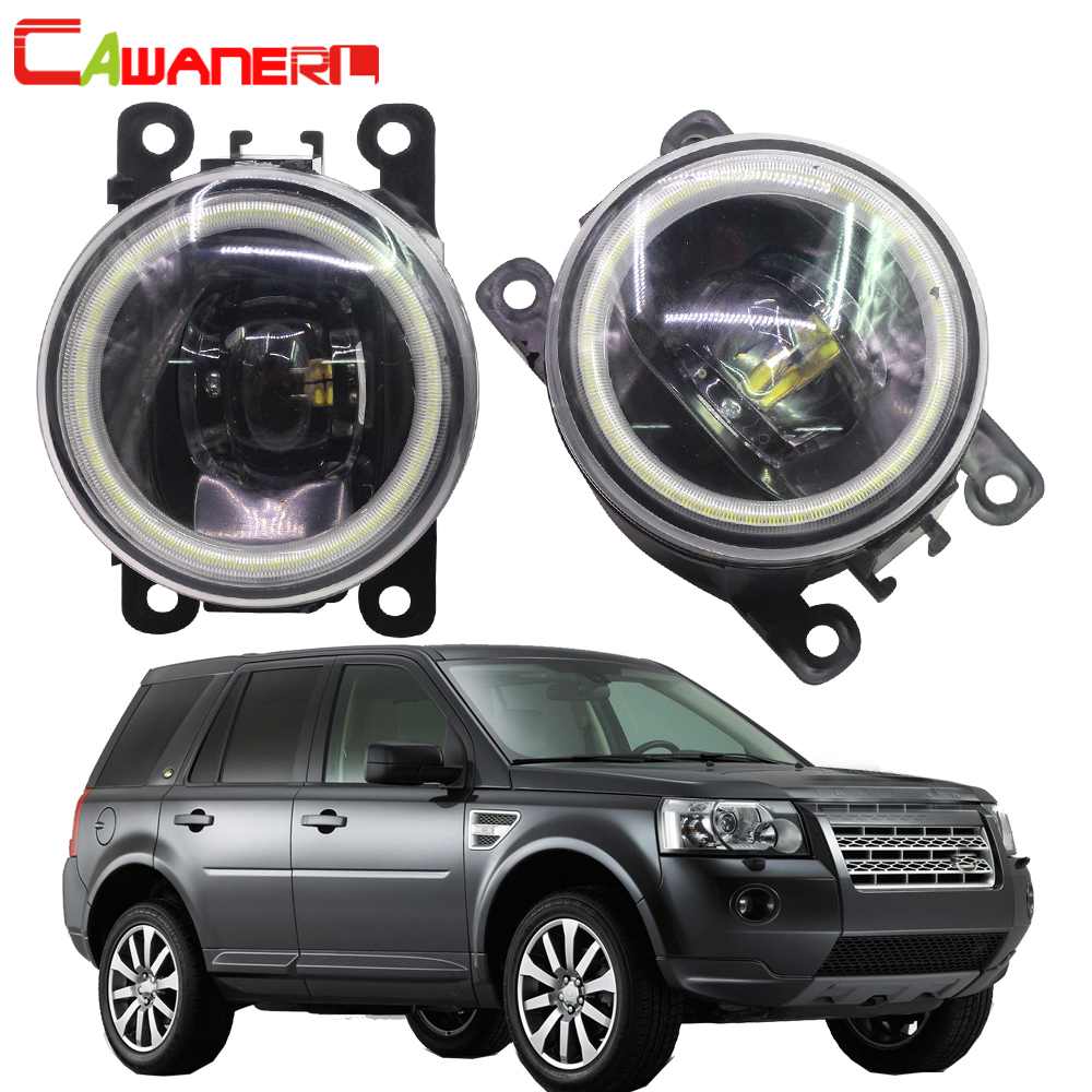Cawaner For Land Rover Freelander 2 LR2 FA_ Closed Off-Road Vehicle 2006-2014 Car 4000LM LED Bulb Fog Light Angel Eye DRL 12V