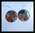 Natural Stone Round Shape Sodalite Earrings,24*4mm 8.0g natural stone earrings