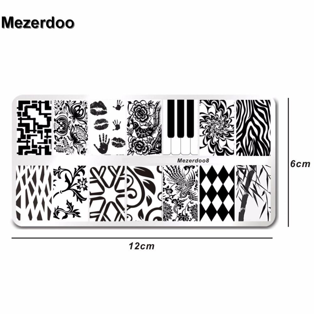 Palm Kiss Design Nail Stamping Finger Plates DIY Image Nail Art ...