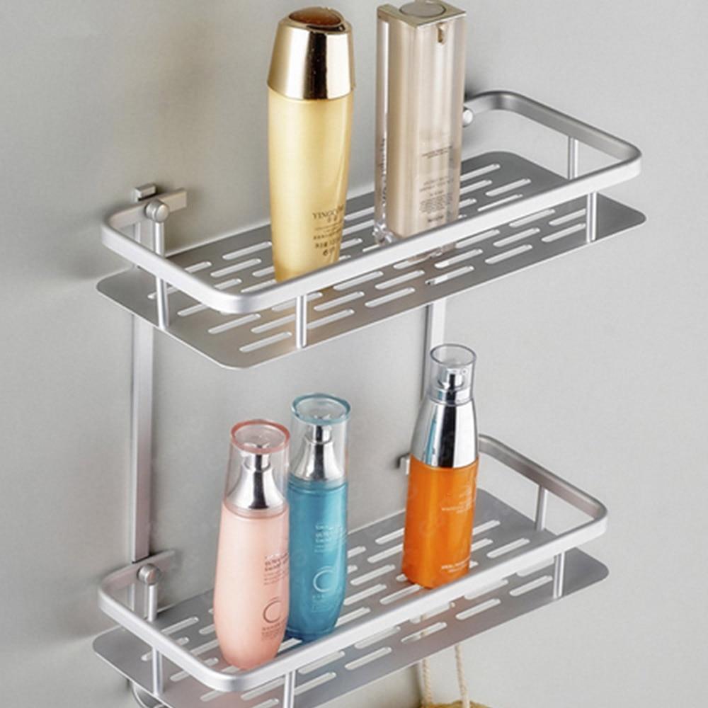 €20.20 20% de réductionÉtagère de salle de bain en aluminium  À double  couche, étagère de salle de bain en aluminium douche shampooing savon et