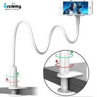 Soporte Flexible para teléfono móvil, abrazadera de montaje de cuello de cisne de brazo largo para iPhone 11 Pro XR 7 Plus 8 6, cama de escritorio