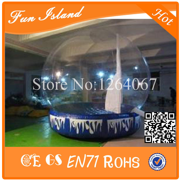 Free Shipping Diameter 3m 0.5mm PVC Inflatable Snow Ball ,Inflatable Advertise Show Ball,Inflatable Snow Globe