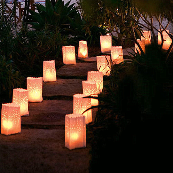 1500pcs/lot Heart Light Holder Luminaria Paper Lantern Candle Bag For Party  Home Outdoor Wedding Decoration