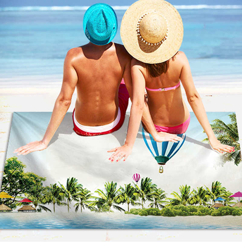 Toalha de Praia Para Adultos LOVINSUNSHINE Rodada Toalha de Banho de Microfibra Toalha de Praia Dos Desenhos Animados Unicórnio XC01 #