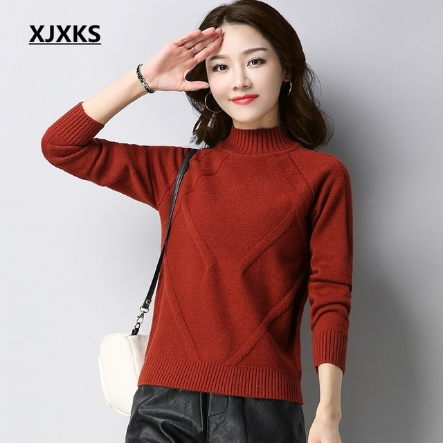 XJXKS womens clothing jumper elasticity korean style wool knit wear high-ends  thickn comfortable women pullovers and sweaters 910ea885b